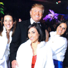 With Donald Trump at the 2010 Policeman's Ball at Mar-a-lago in West Palm Beach, FL