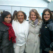 With the amazing Darlene Love at Bryant Park