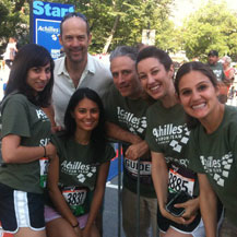 With Jon Stewart and Anthony Edwards after singing the anthem at the Achilles Hope and Possibility 5-miler