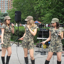 Performing at Battery Park for Fleet Week 2010