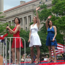 Singing with Lee Greenwood at the National Memorial Day Parade in Washington D.C.