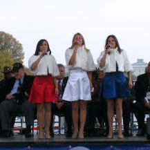 Performing at the 25th Anniversary of the Vietnam Memorial in Washington D.C.