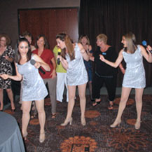 Getting the audience involved at the Wild Horse Pass Hotel and Casino, Arizona