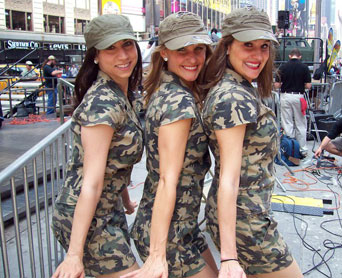 The ladies at Fleet Week 2011 in Times Square
